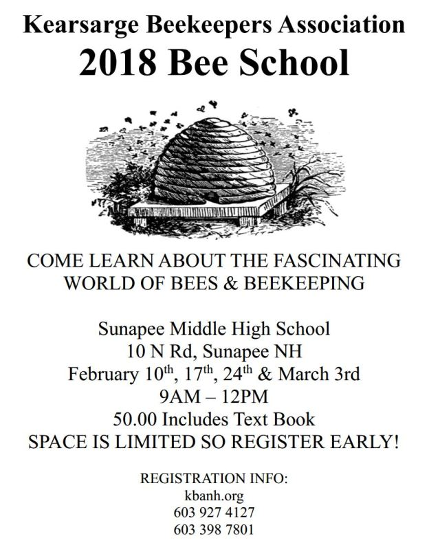 KBA 2018 bee school poster